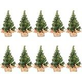 TOYMYTOY TOYMYTOY クリスマスツリー クリスマスツリー飾り 卓上ミニツリー ミニチュア クリスマス看板付き20CM 10個セット 卓上 北欧風 おしゃれ ショーケース装飾用 飾り 撮影小道具 プレゼン