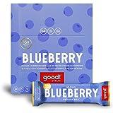 good! Snacks Vegan Blueberry Protein Bar | Gluten-Free, Plant Based, Low Sugar, Kosher, Soy Free, Non GMO | 15g Protein (12 B