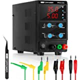 35V 5A DC Power Supply Variable Switching Regulated 3-Digital Power Supply Single-Output 220V, with Alligator Leads, AU Power