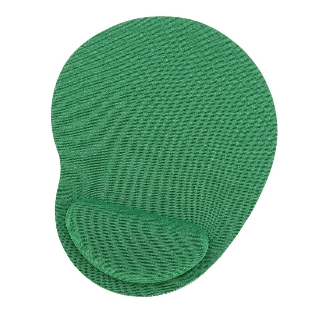 安価かつ快適 ソフトジェルレスト 手首サポートマット マウスパッド - 緑