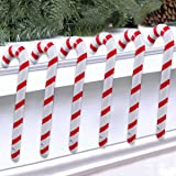 QIFU Inflatable Christmas Candy Cane for Christmas Decorations Set of 6, Outdoor Holiday Decorations