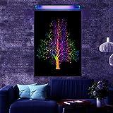 Blacklight Poster Print 24x34 inch, Reactive at UV Light, Glow at Blacklight, Art Wall Fluorescent Poster, Fluorescent Ink Pr