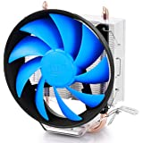 DEEPCOOL GAMMAXX 200T CPU Cooler 2 Heatpipes 120mm PWM Fan CPU Cooler Intel/AMD AM4 Compatible, Aluminium, Black, Blue