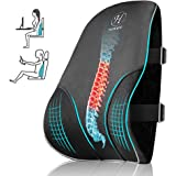 HOKEKI Lumbar Support Pillow with 3D Breathable Mesh Cover for Back Support Pillow,Pure Memory Foam for Back Pain Relief,Suit