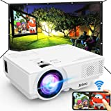 "Jinhoo WiFi Projector, [100"" Projector Screen Included] 6500L Outdoor Movie Projector, 1080P Supports Synchronize Smartphone"