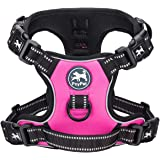PoyPet 2019 Upgraded No Pull Dog Harness with 4 Snap Buckles, 3M Reflective with Front & Back 2 Leash Hooks and an Easy Contr