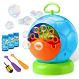 Bubble Machine - Bubble Machine for Kids with 3 Bottles of Bubble Solution and 2 Hand Bubble Wands - Durable and Portable Aut