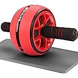 AUOPLUS 腹筋ローラー 膝マット付き 静音 一輪 アブホイール 腹筋 トレーニング器具 筋トレグッズ エクササイズ…