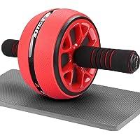 AUOPLUS 腹筋ローラー 膝マット付き アブホイール 腹筋 トレーニング器具 筋トレグッズ エクササイズローラー 体…