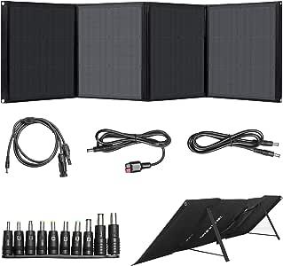 Beaudens ソーラーパネル 100W Type C/QC3.0/USB/DC出力対応 ソーラーチャージャー 10種DCプラグ付き 単結晶 高変換効率 折りたたみ式 ポータブル電源・スマホ・ノートパソコン適用 【二年保証】