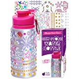 Decorate & Personalize Your Own Water Bottles for Girls with Tons of Rhinestone Glitter Gem Stickers! BPA Free 20 oz Kids Wat