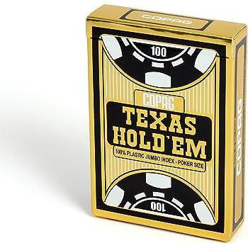 トランプ コパッグ テキサスホールデム 黒 ポーカーサイズ