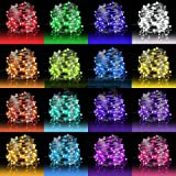LED Fairy Lights 33ft 100 LEDs Battery Operated String Lights Waterproof Multi Color Changing Firefly Lights with Remote Cont