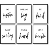 GIFTSFARM Inspirational Wall Art Motivational Wall Art Quotes Wall Décor Wall Art for Living Room Bedroom and Office Art (Set