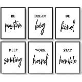 Inspirational Wall Art, Motivational Wall Art, Office Wall Decor, Wall Art for Living room and Bedroom, Office Decor (Set of