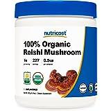 Nutricost Organic Reishi Mushroom 0.5LB (8oz) Powder - USDA Certified 100% Organic, Vegan, Non-GMO, Gluten Free