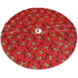 """SCOTTA How The Grinch Stole Christmas Christmas Tree Skirt for Xmas Holiday Party Decorations (Grinch 7, 48"""")"""