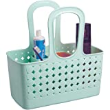 InterDesign Orbz - Shower Tote Holder and Organizer for Shampoo, Cosmetics, Beauty Products - Mint - Small/Divided: 11.75 x 6