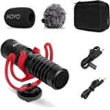 Movo VXR10-PRO External Video Microphone for Camera with Rycote Lyre Shock Mount - Compact Shotgun Mic and Accessories Compat