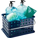 InterDesign Storage Organizer Basket, for Bathroom, Health and Beauty Products - Small, Navy