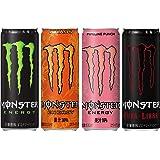 【セット買い】モンスター 4種飲み比べセット(エナジー・カオス・パイプラインパンチ・キューバリブレ)