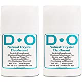 D-O 100% Natural, Crystal Deodorant Wide Stick, 70 G, No Aluminum Chlorohydrate, Parabens, Propyls, or Other Chemicals (2 Pac