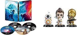【Amazon.co.jp限定】スター・ウォーズ/スカイウォーカーの夜明け 4K UHD MovieNEX スチールブック(HOTTOYSコラボレーション企画 オリジナルコスベイビー付き<REY,C-3PO,BB-8>) [4K ULTRA HD+3D+ブルーレイ+デジタルコピー+MovieNEXワールド] [Blu-ray]