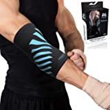 Physix Gear Elbow Brace Compression Sleeve - Neoprene Arm Support for Weightlifting, Tendonitis Pain, Tennis Elbow, Golfers E