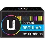 U BY KOTEX Tampons, Regular (Pack of 32)