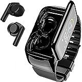 Smart Watch with Bluebooth Earbuds,Wireless Earphones Fitness Tracker Watch 2 in 1,Activity Bracelet with TWS Sleep Music Wri