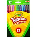 CRAYOLA 52 7412 12 Twistables Crayons 12 Pack, Twist for Fun, Back to School, Book-List, Art and Craft, Classroom, Education
