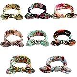 Luckikikids Baby Girl Headbands Newborn Girls Elastic Soft Headband Bow Turban Hair Accessories 8pcs/Pack