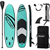 """AECOJOY 10'6×32""""×6"""" Inflatable Stand Up Paddle Board for All Skill Level, Surf Board with Adjustable Paddle, Non-Slip Deck Bo"""