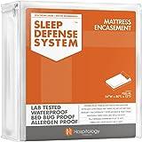 HOSPITOLOGY PRODUCTS Sleep Defense System - Waterproof/Bed Bug/Dust Mites - PREMIUM Zippered Mattress Encasement & Hypoallerg