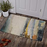 Lahome Modern Abstract Area Rug - 2' X 3' Non-Slip Distressed Area Rug Small Accent Throw Rugs Floor Carpet for Door Mat Entr