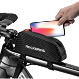 ROCK BROS Top Tube Bike Bag Bicycle Frame Bag Top Tube Aero Bag Compatible with iPhone X/Xs Max/XR 7/8 Plus