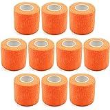 Roloiki 10 PCS Self Adhesive Bandage Wrap 2 Inches 5 Yards Athletic Elastic Cohesive Bandage for Workout Fitness