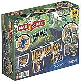 Magicube Jungle Animals - 6 Cubes - Magnetic Building Set
