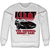 Knight Rider Officially Licensed KITT The Original Smart Car Sweatshirt (White)