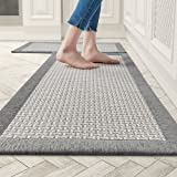 Kitchen Rugs and Mats Non Skid Washable, Absorbent Rug for Kitchen, Large Kitchen Floor Mats for in Front of Sink, 2 PCS Set