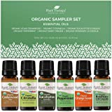 Plant Therapy Essential Oils Organic Sampler Gift Set, 100% Pure, Undiluted