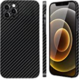 """Carbon Fiber Phone Case for iPhone 12 Pro Max 6.7"""" 2020, Thin and Slim 0.03in 0.4oz Lightweight, Durable and Anti-Scratch Bla"""