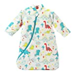 TOOGOO Unisex Baby Sleepsack Wearable Blanket Cotton Sleeping Bag Long Sleeve Nest Nightgowns Thickened Winter Dinosaur...