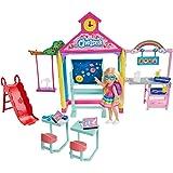 Barbie GHV80 Club Chelsea Doll and School Playset, Multi
