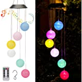 ZYLiWoo Wind Chime Lights with Music Outdoor Waterproof Remote Control Color Changing Wind Chime Lights Thread Ball Interior