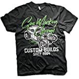 Gas Monkey Garage Officially Licensed Custom Neon Mens T-Shirt (Black)