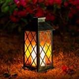 OxyLED Solar Lantern, LED Solar Lights Outdoor, 1 Pack Hanging Lantern Solar Powered with Handle, Waterproof Flickering Flame