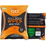 HyperGo: Full Body Wipes - Body Cleansing Wipes - Clean Off Odor and Sweat - Refresh and Moisturize Skin - All Natural Ingred