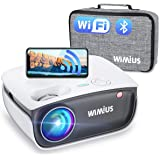 Wifi Bluetooth Projector, WiMiUS S25 6000:1 HD Mini Outdoor Movie Projector, Portable Phone Projector w/ Wireless Mirroring&Z