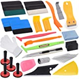 Pro Vinyl Wraps Applicator Tool Kit Window Tint Car Wrapping Film Tools Includes Felt Squeegees, Plastic Scraper, Knife and B
